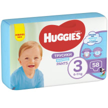 Biksītes Huggies boy mp 3 7-12kg 58gb