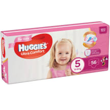Autiņbiksītes Huggies girls 12-22kg 56gb