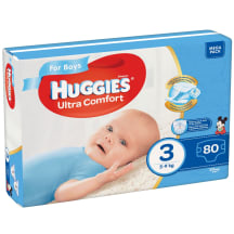 Autiņbiksītes Huggies boys 5-9kg 80gb
