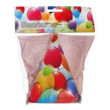 Peomütsikesed õhupallidega Decorata 6tk