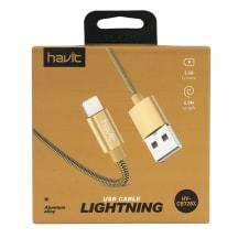 Valguskaabel laadimisjuhe USB Havit 728