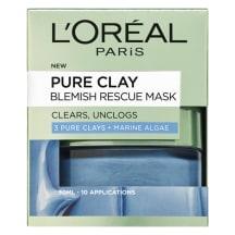 Veido kaukė L'Oreal D/E PURE CLAY BLUE, 50 ml