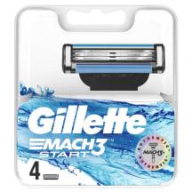 Skūšanās kasetes Gillette Mach3 Start 4 gab.