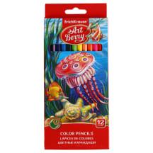 Spalvoti pieštukai ARTBERRY, 12 spalvų