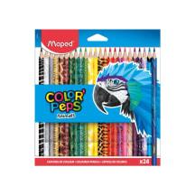 Krāsainie zīmuļi ColorPeps Animals 24.gab.