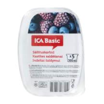 Kastītes saldēšanai ICA Basic 5gab 500ml