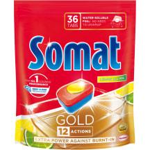 Tr. mašīnas kapsulas Somat Gold Lemon 36gab.