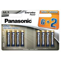 Baterijos PANASONIC LR6EPS/8(6+2)