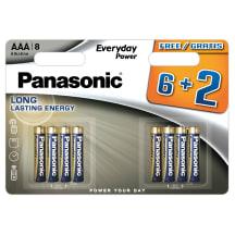 Baterijos PANASONIC LR03EPS/8(6+2)