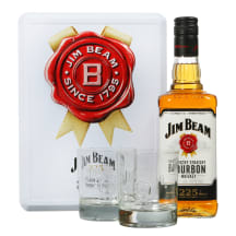 Viskis JIM BEAM WHITE, su 2 stik., 40 %, 0,7l