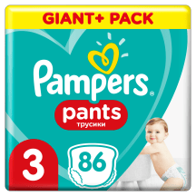 Püksmähkmed Pampers GP+ S3 6-11kg 86tk