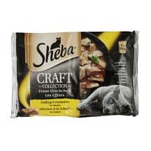 Kaķu kons. Sheba Craft, ar mājput. gaļu 4x85g