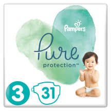Sauskelnės PAMPERS PURE 6-10kg., 31vnt.