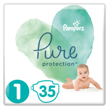 Sauskelnės PAMPERS PURE CARRY PACK 1, 35vnt.
