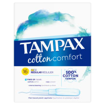Higien.tamponai TAMPAX COTTON REGULAR,16vnt.
