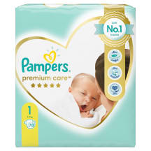 Sausk., PAMPERS PREMIUM CARE 1, 2-5kg, 78vnt.