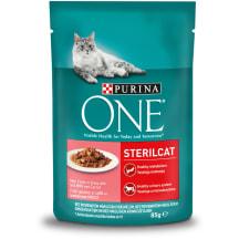 Šlapias ėd. katėms One Sterilcat lašiša 85g