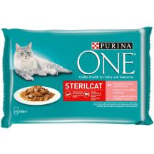 Šlapias ėd. katėms One Sterilcat lašiša 4x85g