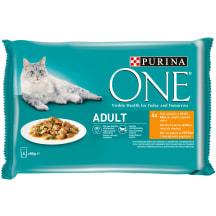 Barība kaķiem One Adult vista 4x85g