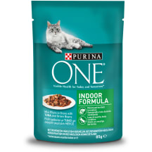 Šlapias ėdalas katėms One Indoor tunai 85g