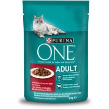 Šlapias ėdalas katėms One Adult jautiena 85g