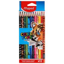 Värvipliiats ColorPeps Animals 12tk