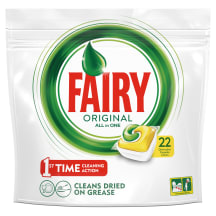Indaplovių kaps. Fairy All in 1 Lemon 22 vnt.