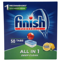 Indapl.tabl. Finish All in 1 Box Lemon 50vnt.