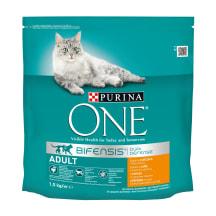Kaķu barība One Adult ar vistu, sausā 1,5kg