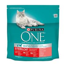Kaķu barība ONE Steril ar lasi, sausā 1,5kg