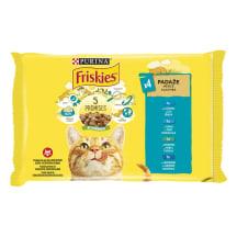 Kaķu konservi Friskies laša izlase 4x85g
