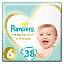Autiņbiks. Pampers Premium Care 38gab.