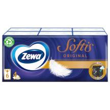 Pop. nosinaitės Zewa Softis, 4sl. 6x9vnt