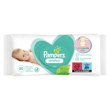 Servetėlės PAMPERS SENSITIVE, 80vnt.