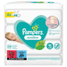 Servetėlės PAMPERS SENSITIVE, 4X52vnt.