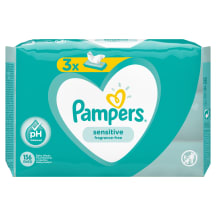 Servetėlės PAMPERS SENSITIVE, 3X52vnt.