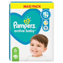 Diapers Pampers ActiveBDry VP+ S6, 44pcs