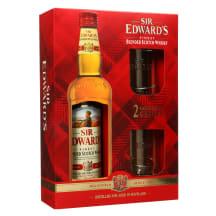 Viskis SIR EDWARD'S,dėž.su 2 taur.,40 %, 0,7l
