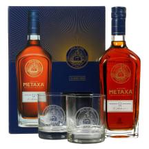 Spirit.gėrimas METAXA 12*,40 %, 0,7l,+2 taur.