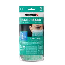 Medic. veido kaukė MEDRULL, 5vnt, mėlyna