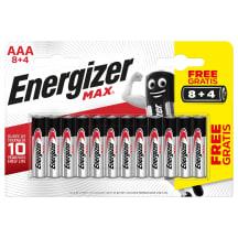 Patareid Energizer MAX ALK AAA 8+4 SS21