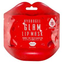 Hidrogelinė lūpų kaukė su rožių ekstraktu