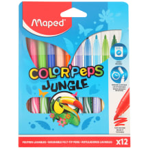 Viltpliiats ColorPeps Jungle 12tk AW20