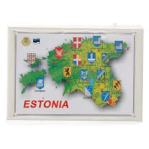 Plekist magnet nr61 Estonia maakaart 1tk