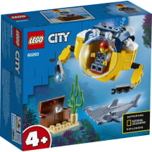 Vandenyno mini povandeninis laivas LEGO 60263