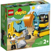 Sunkvežimis ir vikšrinis ekskavator.LEGO