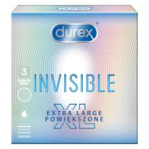 Prezervatyvai DUREX Invisible XL, 3  vnt