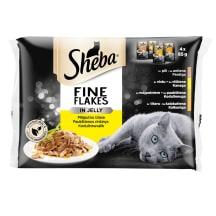 Kaķu bar.Sheba Fine Flakes pouch 4x85g