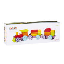 Rotaļlieta koka vilciens Cubika