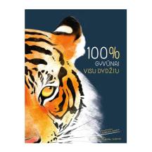 Knyga 100 PROCENTŲ. GYVŪNAI VISU DYDŽIU